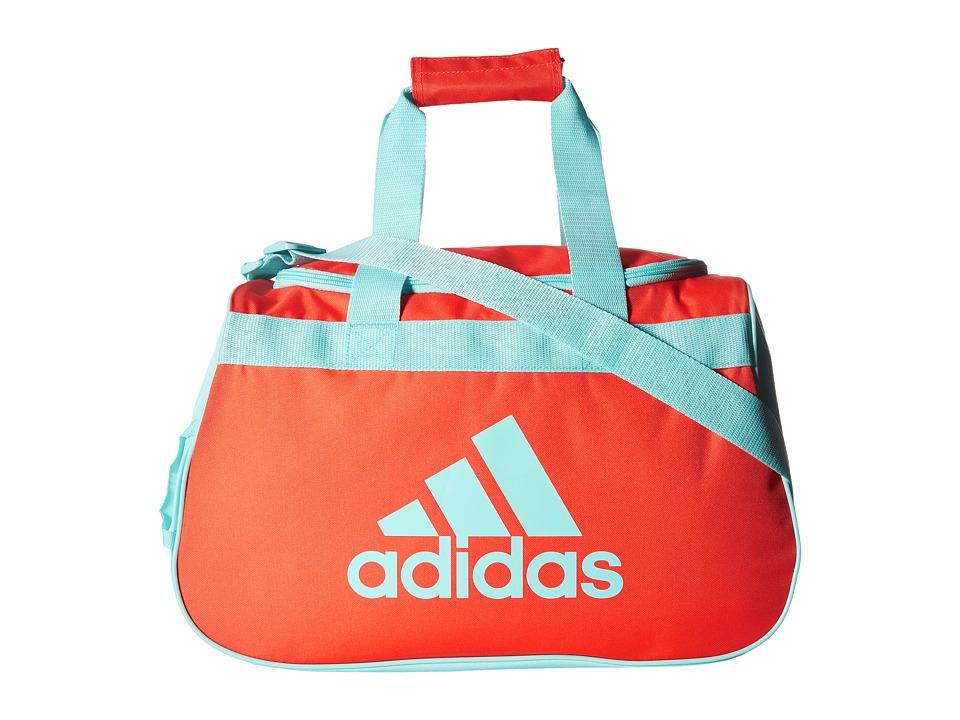 adidas Diablo Small Duffel (Easy Coral/Clear Aqua) Duffel Bags