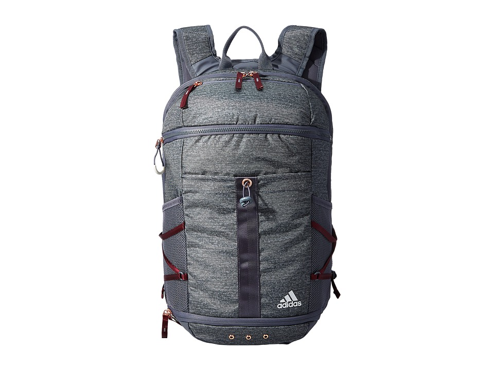 adidas - Studio II Backpack (Jersey Onix/Onix/Maroon) Backpack Bags