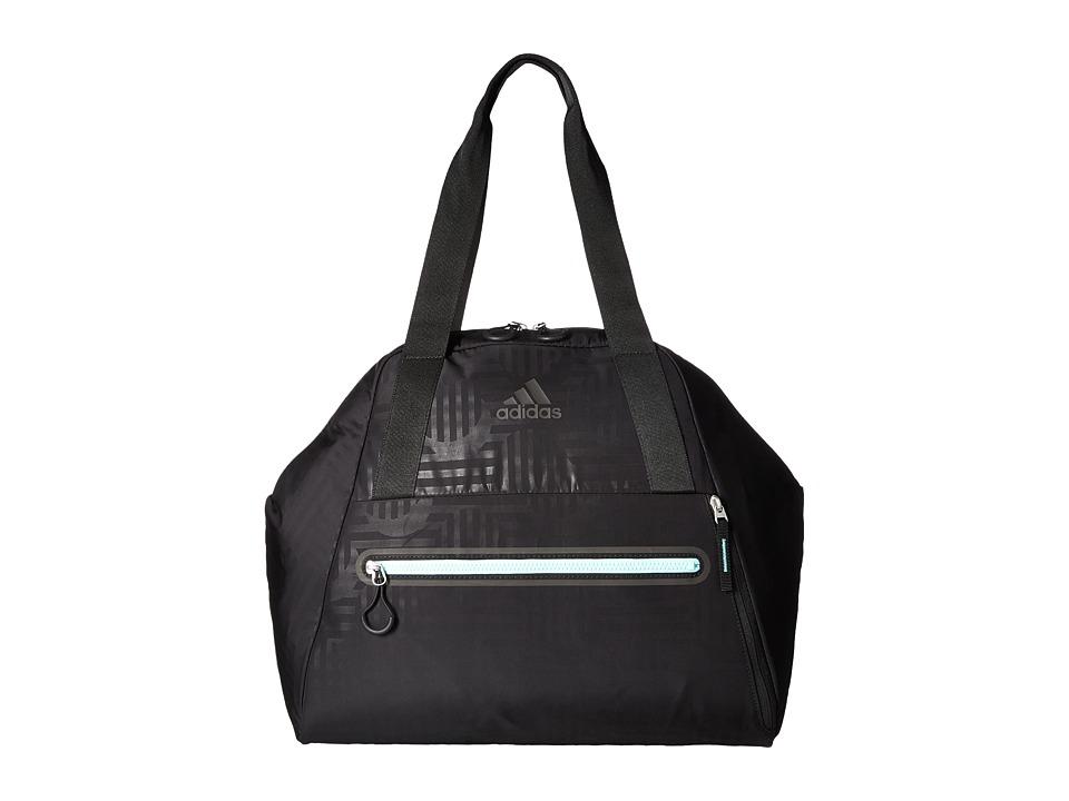 adidas - Studio Hybrid Tote (Black Dot Punch Emboss/Black/Easy Green) Tote Handbags