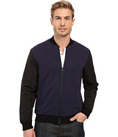 Kenneth Cole Sportswear - Knit Bomber w/ Nylon Sleeves