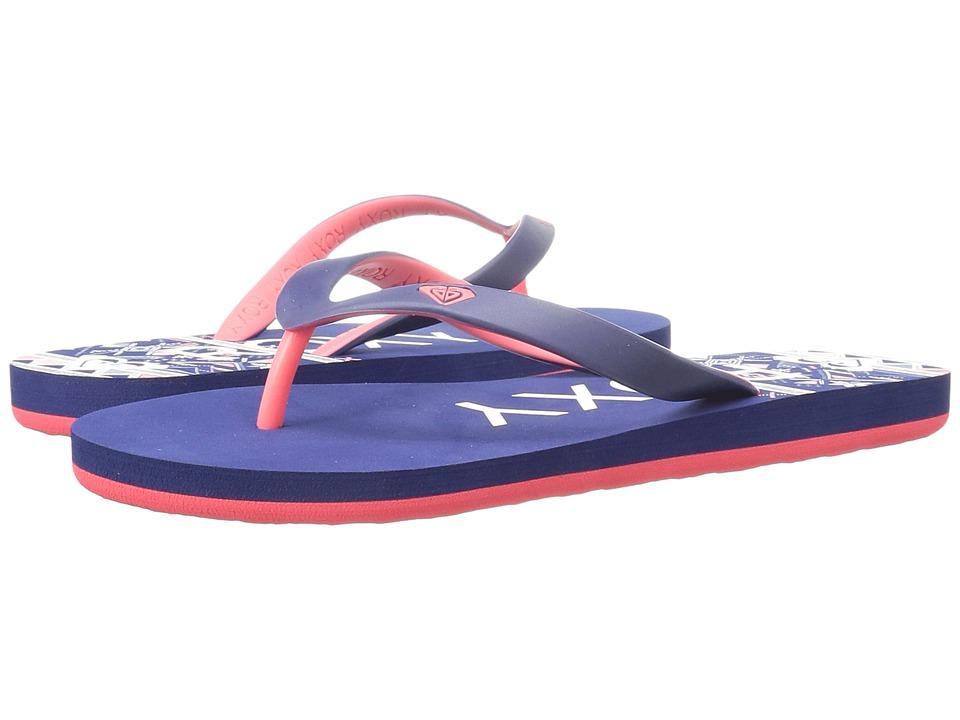 Roxy Kids Tahiti V (Little Kid/Big Kid) (Red/Blue) Girls Shoes