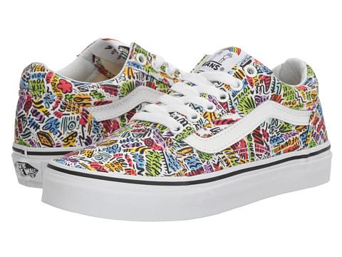 Vans Kids Old Skool x Dallas Clayton (Little Kid/Big Kid) - (Dallas Clayton) Doodle/True White
