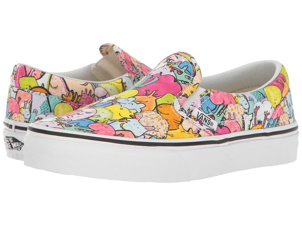 Vans Kids Classic Slip-On x Dallas Clayton (Little Kid/Big Kid) ((Dallas Clayton) Multi/True White) Kids Shoes