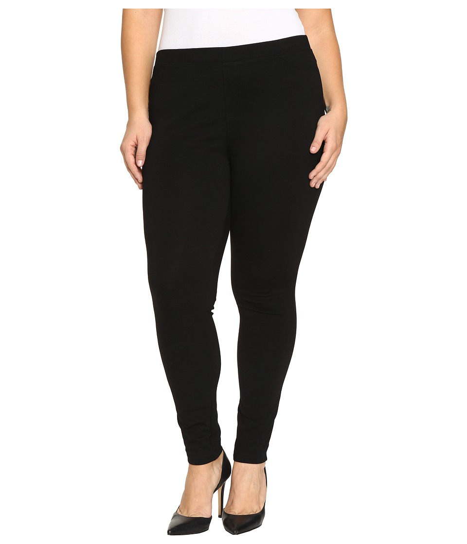 HUE Plus Size Ponte Leggings (Black) Women