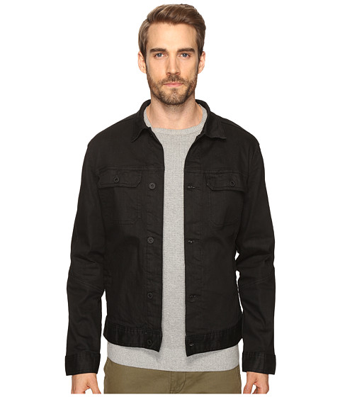 Kenneth Cole Sportswear Washed Coated Denim Jacket - Black