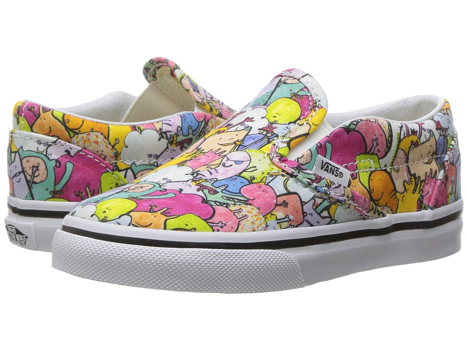 Vans Kids Classic Slip-On x Dallas Clayton (Toddler) ((Dallas Clayton) Multi/True White) Kids Shoes