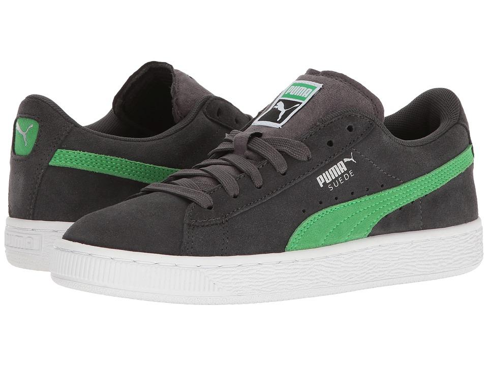 Puma Kids Suede Jr (Big Kid) (Asphalt/Andean Toucan) Boys Shoes