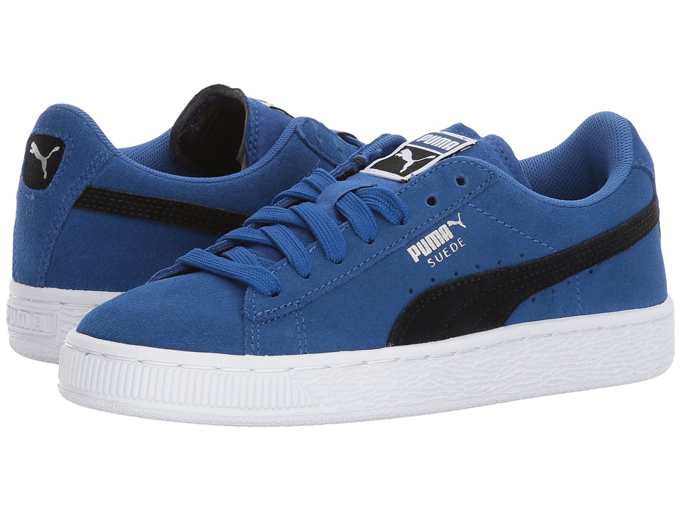 Puma Kids Suede Jr (Big Kid) (True Blue/Puma Black) Boys Shoes
