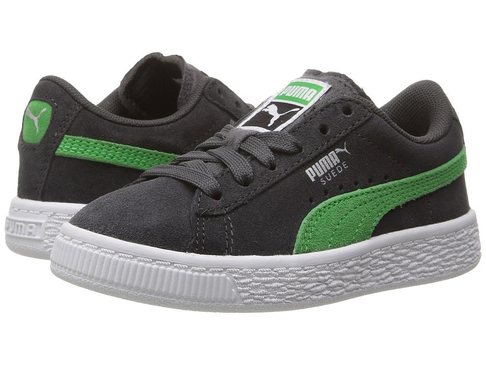 Puma Kids Suede PS (Little Kid/Big Kid) (Asphalt/Andean Toucan) Boys Shoes