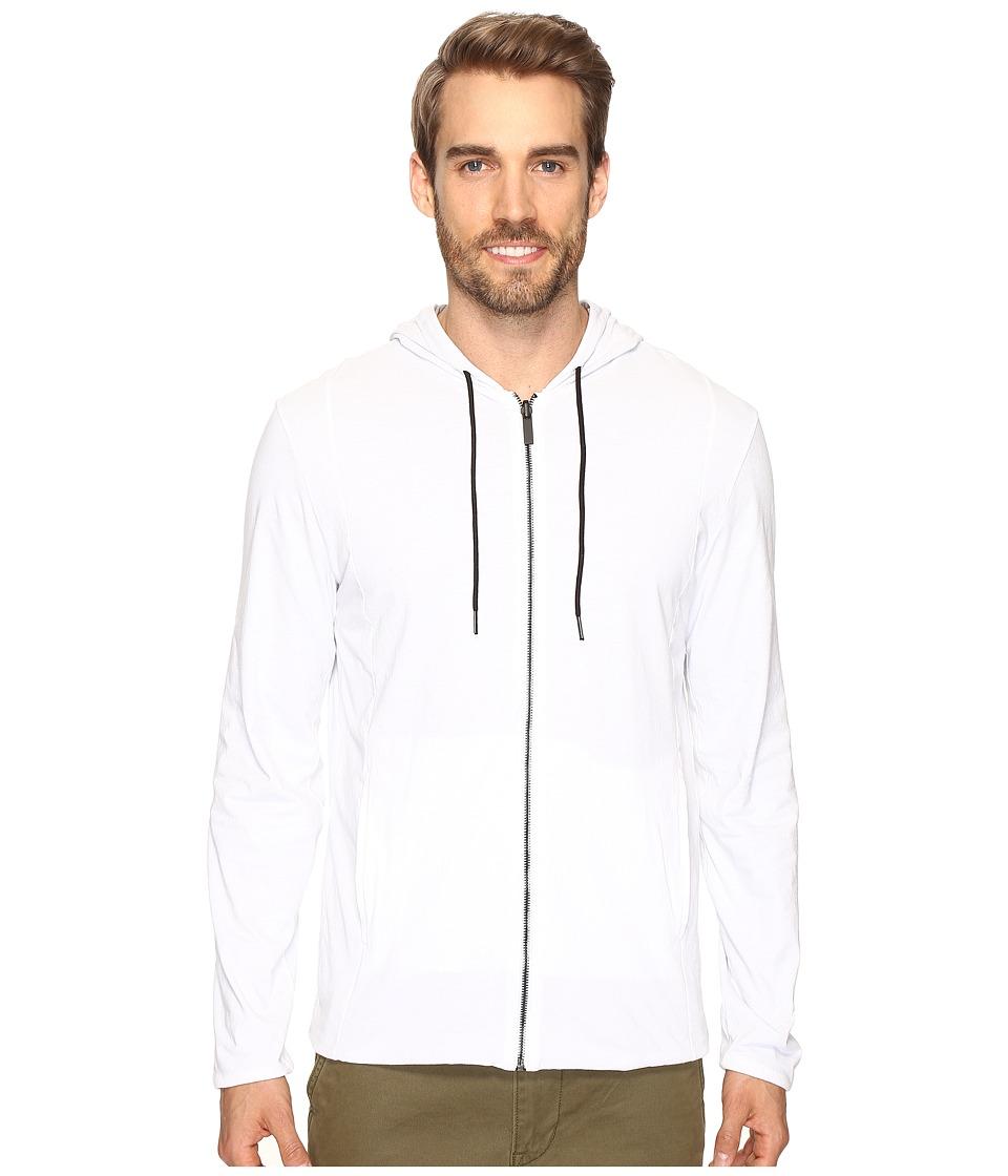 Kenneth Cole Sportswear Reversible Hoodie (White) Men