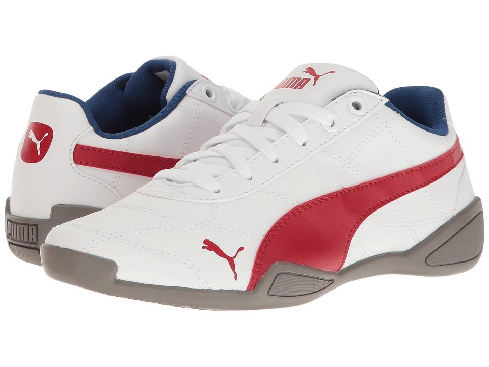 Puma Kids Tune Cat 3 Jr (Big Kid) (PUMA White/Barbados Cherry) Boys Shoes