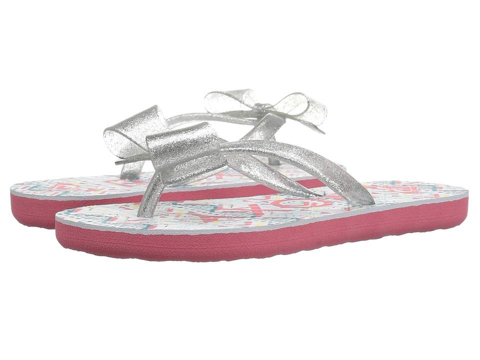 Roxy Kids Lulu II (Little Kid/Big Kid) (White/Silver) Girls Shoes