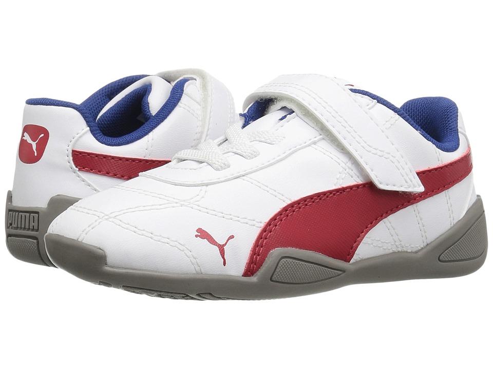 Puma Kids Tune Cat 3 V Inf (Toddler) (PUMA White/Barbados Cherry) Boys Shoes