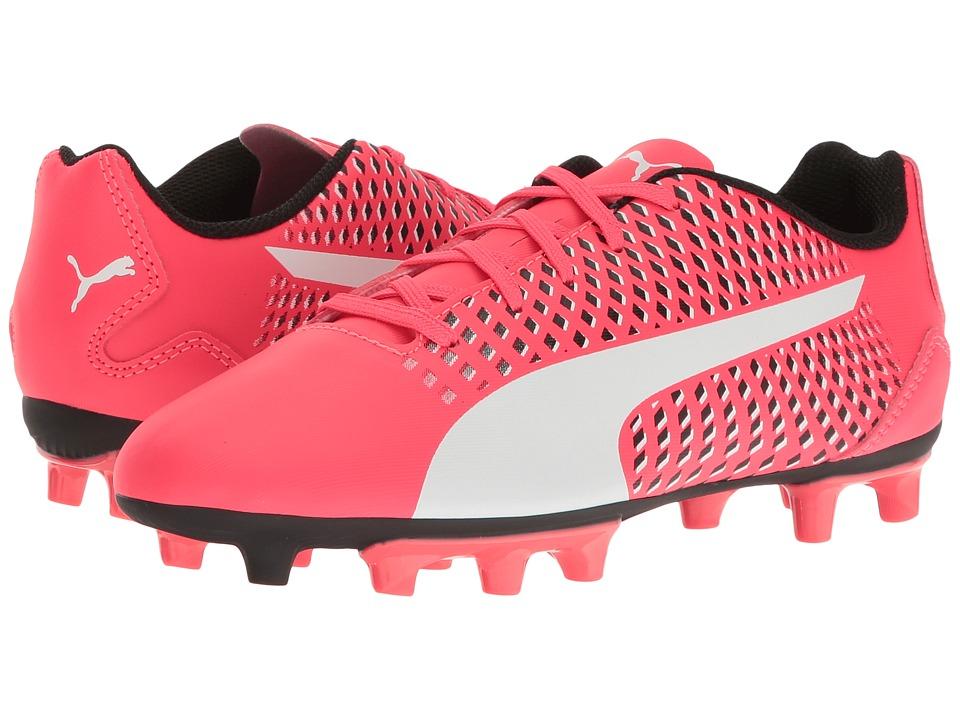 Puma Kids Adreno III FG Jr Soccer (Toddler/Little Kid/Big Kid) (Bright Plasma/Puma White/Puma Black) Kids Shoes
