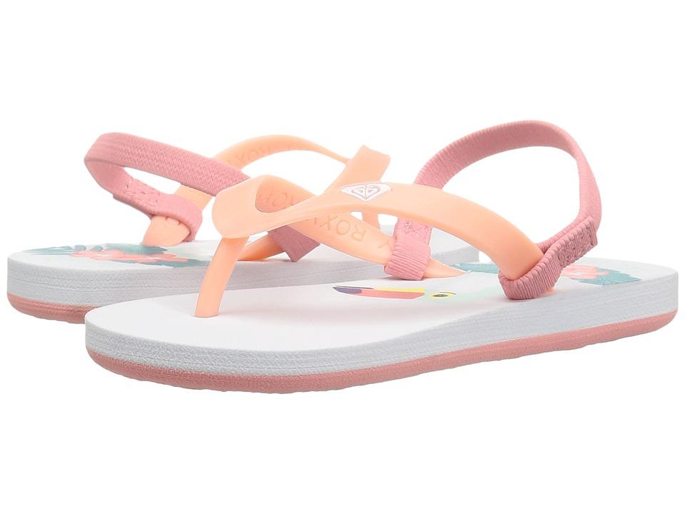 Roxy Kids Tahiti VI (Toddler/Little Kid) (White/Blue Bird) Girls Shoes