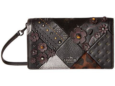 COACH Embossed Canyon Quilt Fold-Over Crossbody - DK/Black Multi