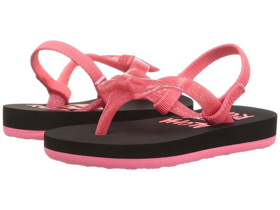 Roxy Kids Fifi II (Toddler/Little Kid) (Black/True Red) Girls Shoes