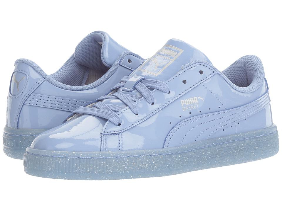 Puma Kids Basket Patent Iced Glitter Jr (Big Kid) (Lavendar Lustre/Lavendar Lustre) Girls Shoes