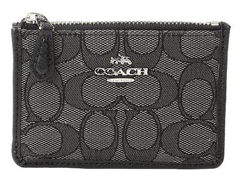 COACH Box Program Signature Jacquard Mini Skinny - SV/Black Smoke/Black