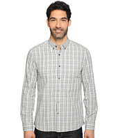 Kenneth Cole Sportswear - Long Sleeve Button Down Collar One-Pocket Check