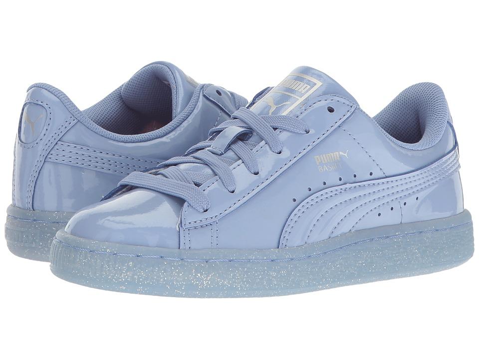 Puma Kids Basket Patent Iced Glitter PS (Little Kid/Big Kid) (Lavendar Lustre/Lavendar Lustre) Girls Shoes