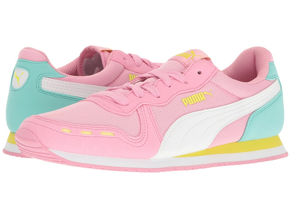 Puma Kids Cabana Racer Mesh Jr (Big Kid) (Prism Pink/Puma White) Girls Shoes