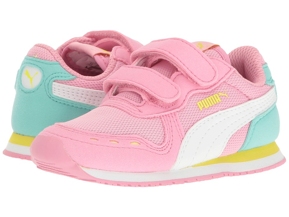 Puma Kids Cabana Racer Mesh V Inf (Toddler) (Prism Pink/Puma White) Girls Shoes