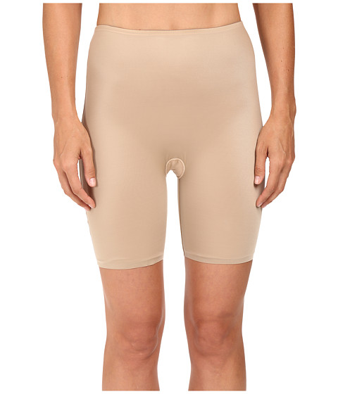 Spanx Two-Timing Midthigh Shorts - Mineral Taupe/Soft Nude