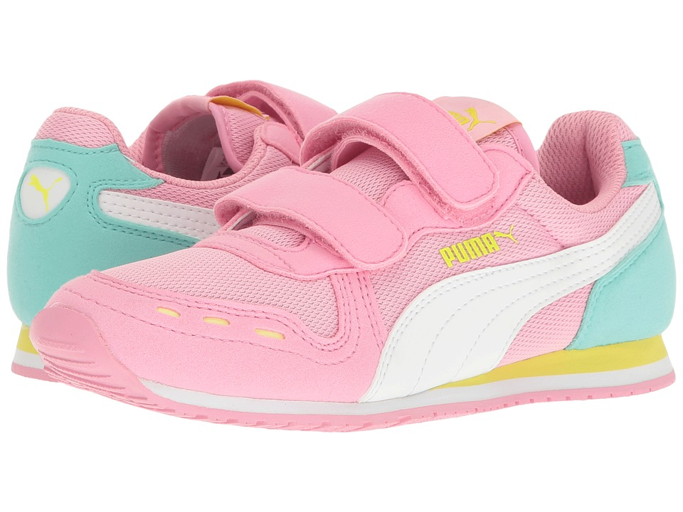 Puma Kids Cabana Racer Mesh V PS (Little Kid/Big Kid) (Prism Pink/Puma White) Girls Shoes