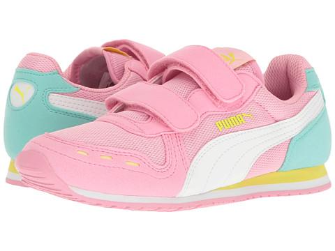 Puma Kids Cabana Racer Mesh V PS (Little Kid/Big Kid) - Prism Pink/Puma White
