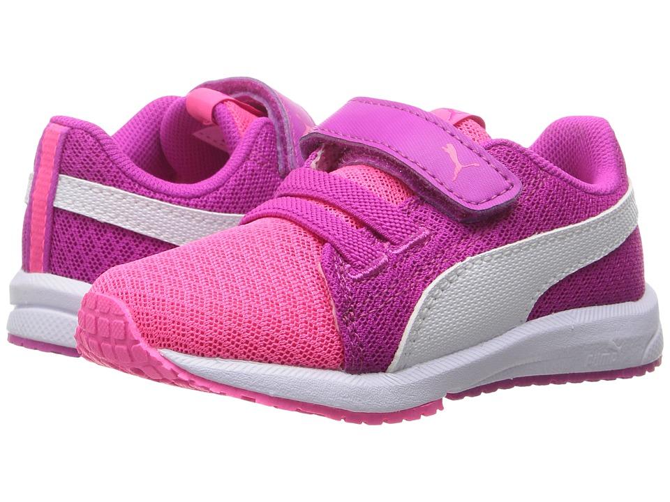 Puma Kids Carson Runner Mesh VE V INF (Toddler) (Knockout Pink/Puma White) Girls Shoes