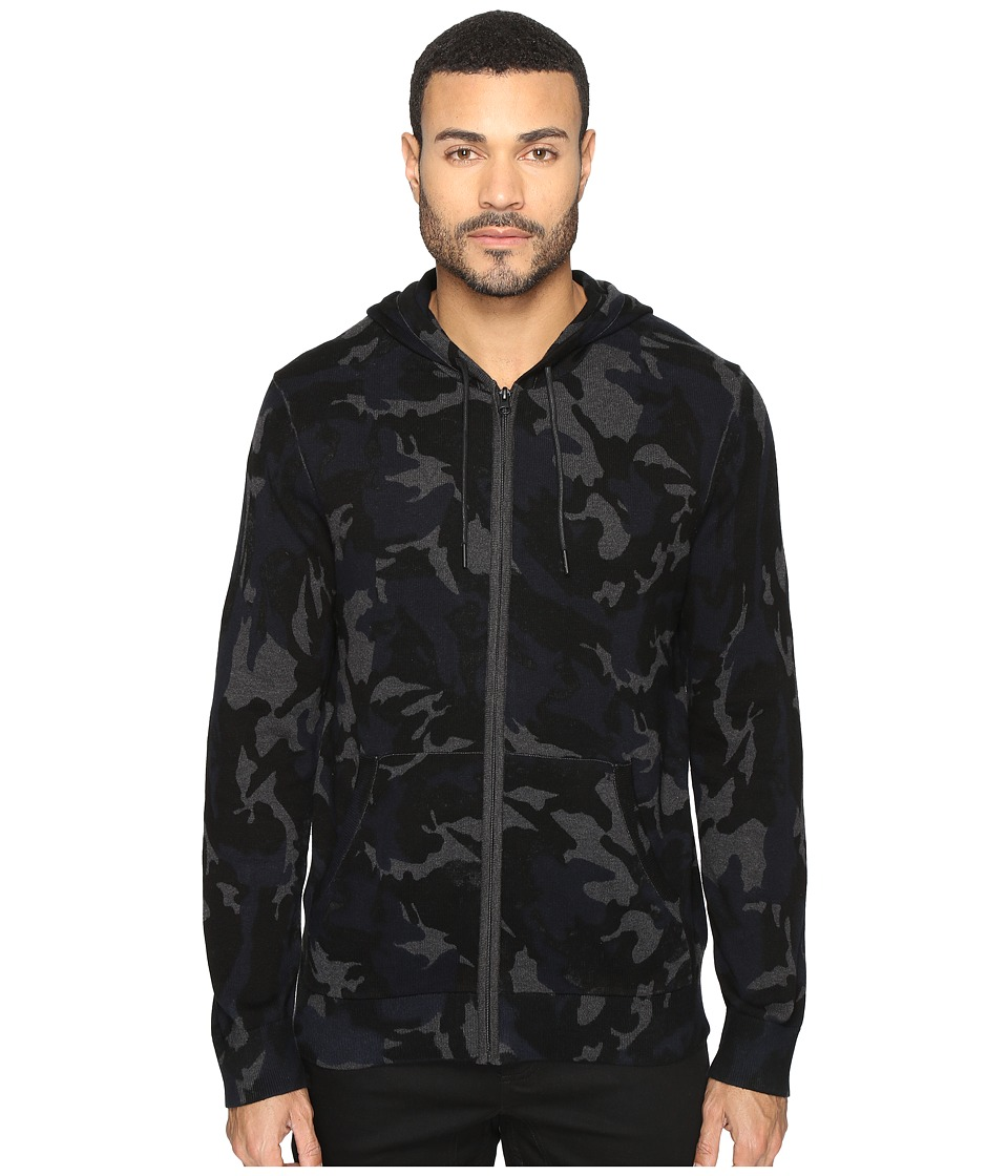 Kenneth Cole Sportswear Camo Hoodie (Indigo) Men