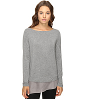 HEATHER - Silk Hem Pullover