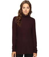 HEATHER - Brushed Hacci Long Sleeve Turtleneck