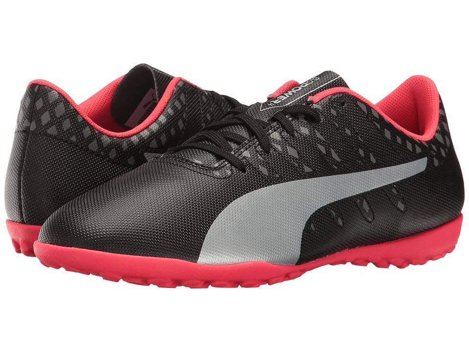 Puma Kids evoPower Vigor 4 TT Jr (Little Kid/Big Kid) (Puma Black/Puma Silver/Quiet Shade/Bright Plasma) Kids Shoes