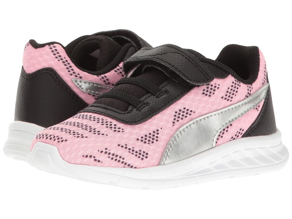 Puma Kids Meteor V INF (Toddler) (Soft Fluo Pink/Puma Silver) Girls Shoes