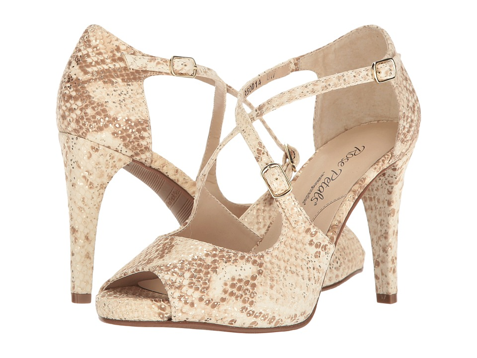 Walking Cradles Lissa (Cream Gold Flecked Snake Print) High Heels