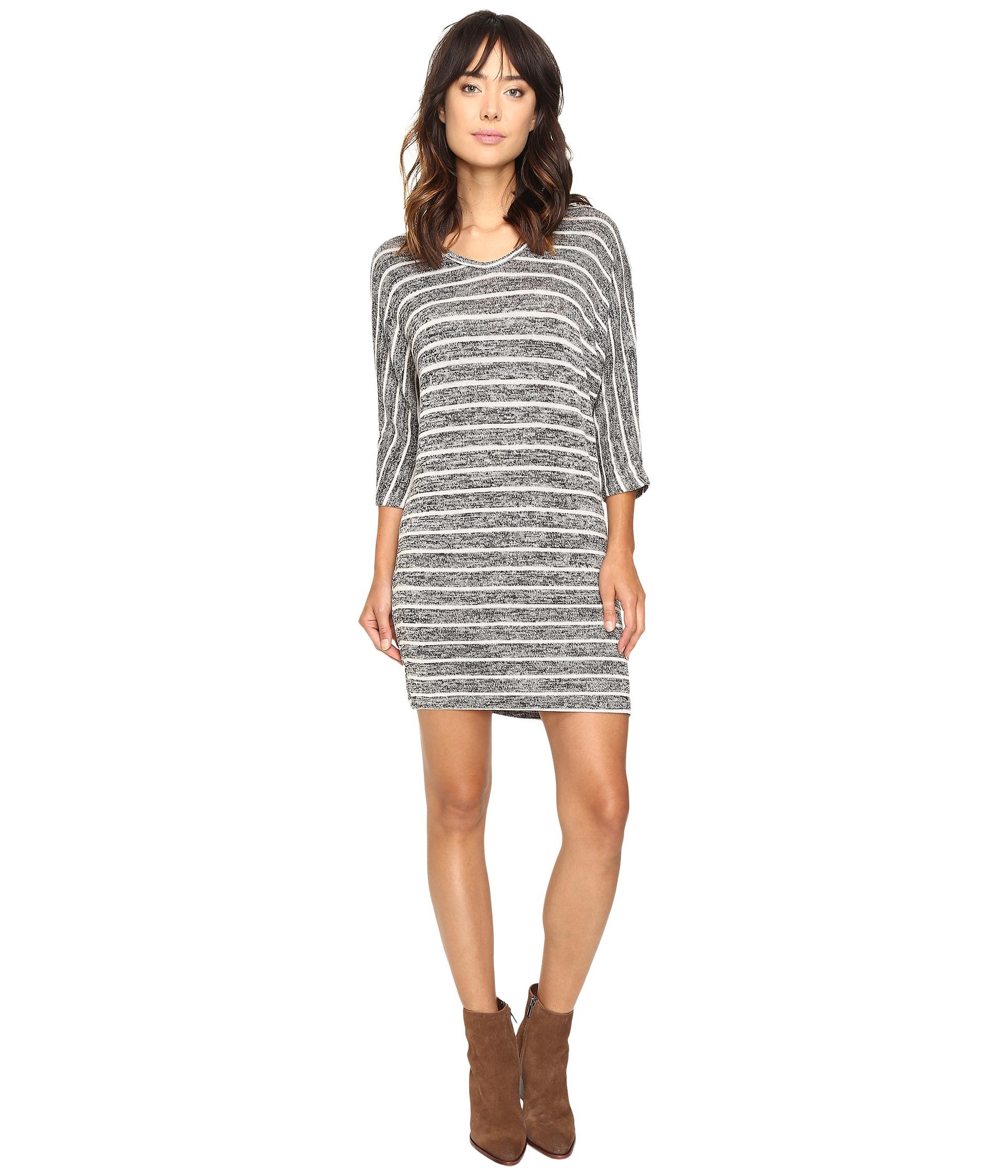 Culture phit gela dolman sleeve striped dress charcoal for Dolman sleeve wedding dress