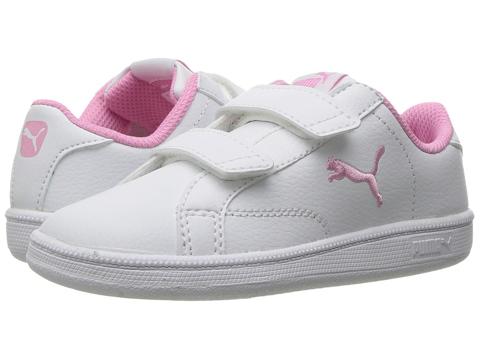 Puma Kids Smash Cat L V INF (Toddler) (Puma White/Prism Pink) Girls Shoes