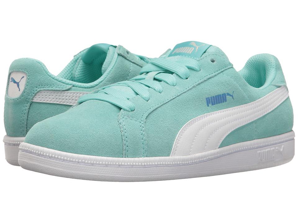 Puma Kids - Smash Fun Suede (Big Kid) (Aruba Blue/Puma White) Girls Shoes