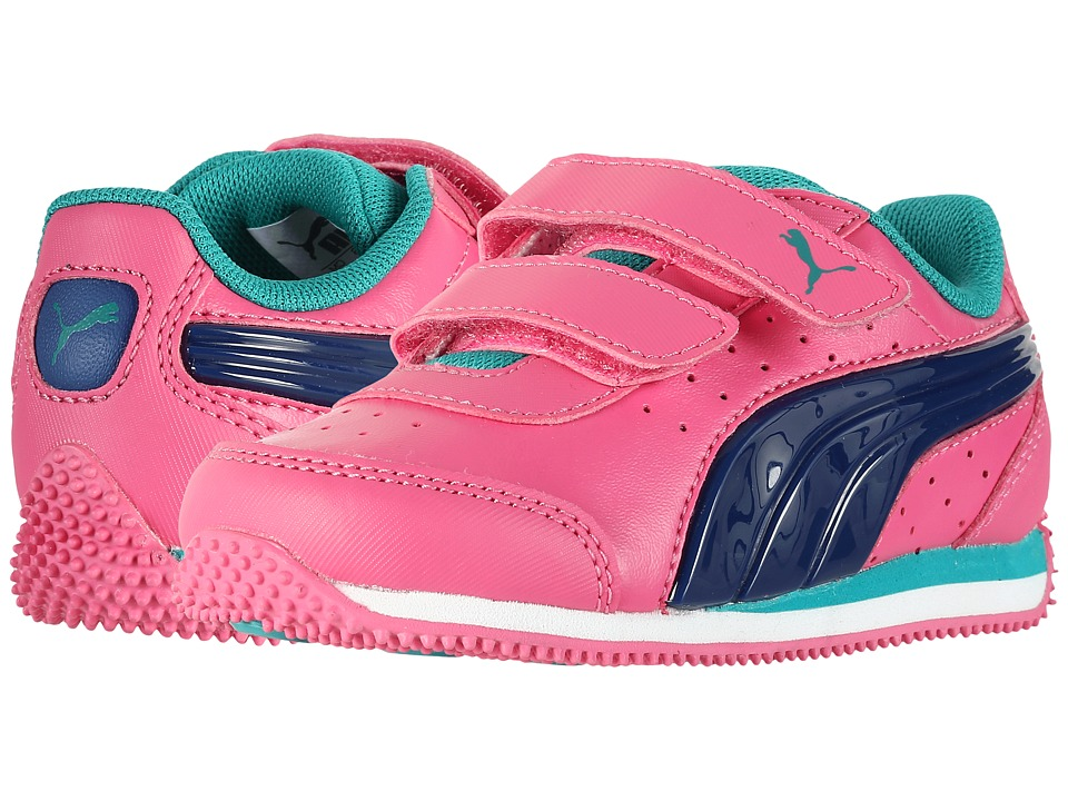 Puma Kids - Speed Light Up Power V INF (Toddler) (Shocking Pink/Blue) Girls Shoes