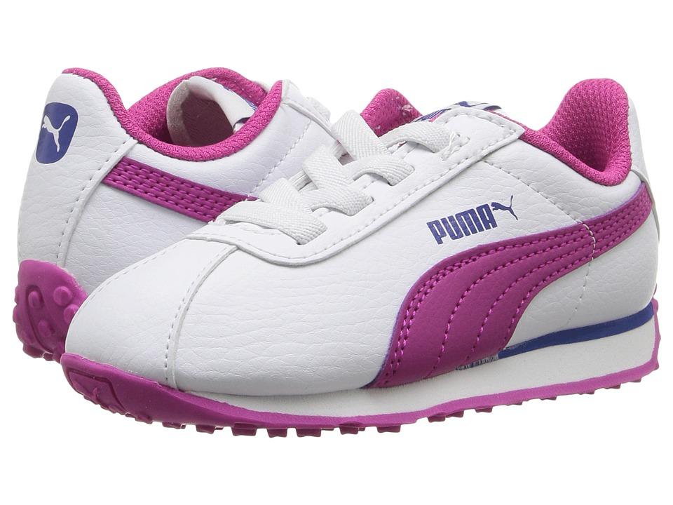 Puma Kids - Turin AC (Toddler) (Puma White/Ultra Magenta) Girls Shoes