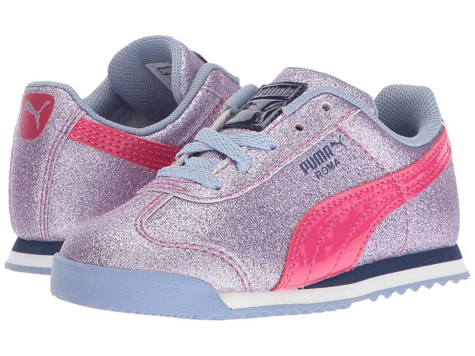 Puma Kids Roma Glitz Glamm INF (Toddler) (Lavendar Lustre/Beetroot Purple) Girls Shoes