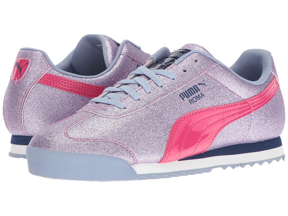 Puma Kids Roma Glitz Glamm Jr (Big Kid) (Lavendar Lustre/Beetroot Purple) Girls Shoes
