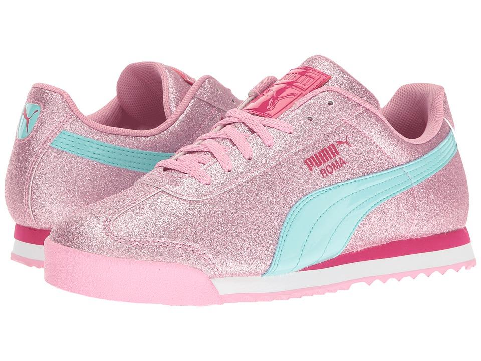 Puma Kids Roma Glitz Glamm Jr (Big Kid) (Prism Pink/Aruba Blue) Girls Shoes