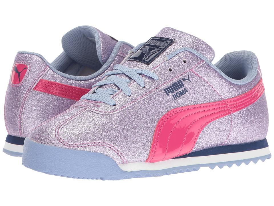 Puma Kids Roma Glitz Glamm PS (Little Kid/Big Kid) (Lavendar Lustre/Beetroot Purple) Girls Shoes