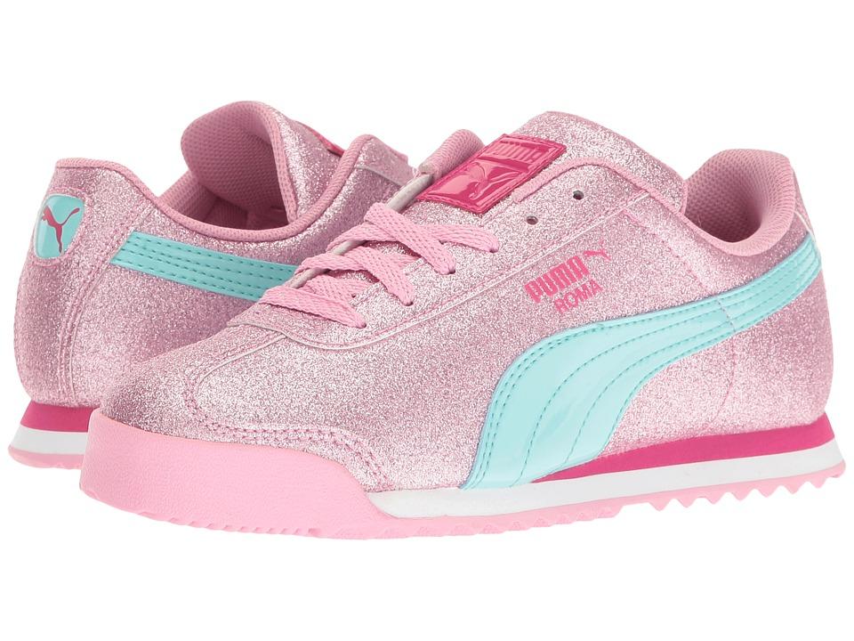 Puma Kids Roma Glitz Glamm PS (Little Kid/Big Kid) (Prism Pink/Aruba Blue) Girls Shoes