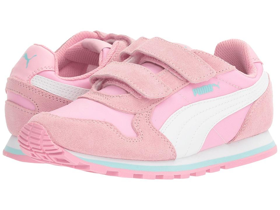 Puma Kids ST Runner NL V PS (Little Kid/Big Kid) (Prism Pink/Puma White) Girls Shoes