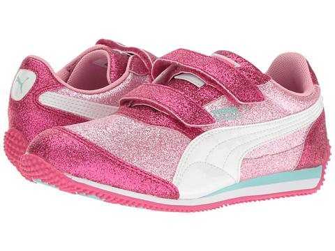 Puma Kids Steeple Glitz Glam V PS (Little Kid/Big Kid) - Prism Pink/Puma White
