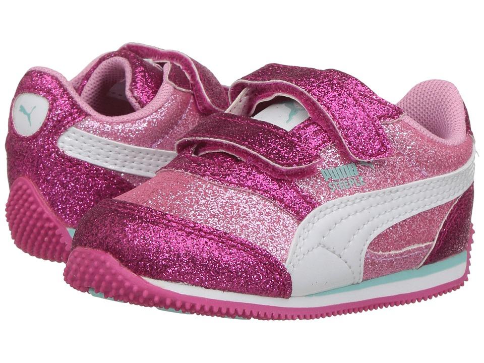Puma Kids - Steeple Glitz Glam V Inf (Toddler) (Prism Pink/Puma White) Girls Shoes